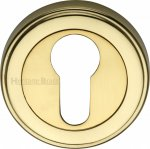 Heritage Brass ERD7020-PB Euro Profile Cylinder Escutcheon Polished Brass finish