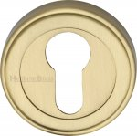 Heritage Brass ERD7020-SB Euro Profile Cylinder Escutcheon Satin Brass finish