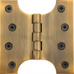 "Heritage Brass HG99-385-AT Parliament Hinge Brass 4"" x 2"" x 4"" Antique finish"