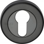 Sorrento SC-0192-BLK Euro Profile Cylinder Escutcheon Matt Black finish