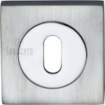 Sorrento SC-SQ0191-AP Keyhole Escutcheon Square Apollo finish