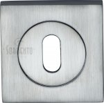 Sorrento SC-SQ0191-SC Keyhole Escutcheon Square Satin Chrome finish