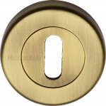 Heritage Brass V4000-AT Key Escutcheon Antique finish