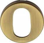 Heritage Brass V4009-AT Oval Profile Cylinder Escutcheon Antique finish