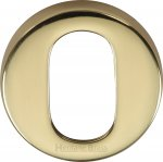 Heritage Brass V4009-PB Oval Profile Cylinder Escutcheon Polished Brass finish