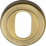 Heritage Brass V4010-AT Oval Profile Cylinder Escutcheon Antique finish