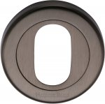 Heritage Brass V4010-MB Oval Profile Cylinder Escutcheon Matt Bronze finish