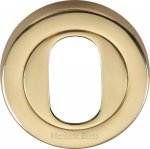 Heritage Brass V4010-PB Oval Profile Cylinder Escutcheon Polished Brass finish