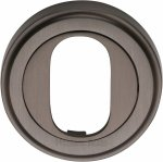 Heritage Brass V5010-MB Oval Profile Cylinder Escutcheon Matt Bronze finish
