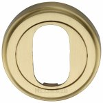 Heritage Brass V5010-SB Oval Profile Cylinder Escutcheon Satin Brass finish