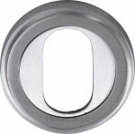 Heritage Brass V5010-SC Oval Profile Cylinder Escutcheon Satin Chrome finish