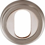 Heritage Brass V5010-SN Oval Profile Cylinder Escutcheon Satin Nickel finish