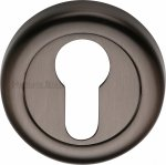 Heritage Brass V6724-MB Euro Profile Cylinder Escutcheon Matt Bronze Finish