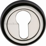 Heritage Brass V6724-PNF Euro Profile Cylinder Escutcheon Polished Nickel Finish