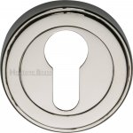 Heritage Brass ERD7020-PNF Euro Profile Cylinder Escutcheon Polished Nickel finish