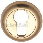 Heritage Brass V4004-PB Euro Profile Cylinder Escutcheon Polished Brass Finish