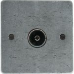 From The Anvil 33675 TV/FM Axial Socket - Pewter Patina - Pewter