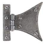 From The Anvil 33783 Pewter 3 1/4'' Half Butterfly Hinge (pair) - Pewter