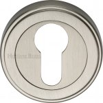 Heritage Brass ERD7020-SN Euro Profile Cylinder Escutcheon Satin Nickel finish