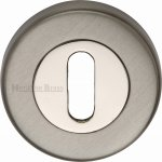 Heritage Brass V4000-MC Key Escutcheon Mercury finish