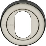 Heritage Brass V4010-PNF Oval Profile Cylinder Escutcheon Polished Nickel Finish