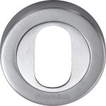Heritage Brass V4010-SC Oval Profile Cylinder Escutcheon Satin Chrome finish