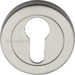 Heritage Brass V4020-SN Euro Profile Cylinder Escutcheon Satin Nickel finish