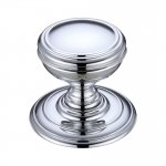 Fulton & Bray FB305CP Mortice Knob on Round Rose - Concealed Fix Polished Chrome