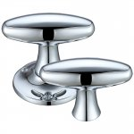 Fulton & Bray FB503RCP Extended Oval Rim Mortice Knob Furniture 60mm Rose dia. Polished Chrome