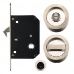 Fulton & Bray FB81SN Sliding Door Lock Set - Suitable for 35-45mm Thick Doors Satin Nickel