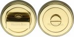 Heritage Brass ERD7030-PB Round Turn & Release Cylinder Escutcheon with stepped edge Polished Brass finish