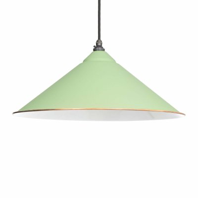 From The Anvil 49509SG Sage Green & White Interior Yardley Pendant - White Interior