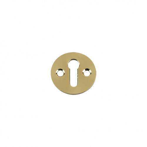 Fulton & Bray FB10 Std. Key Profile Victorian Escutcheon 32mm dia. Polished Brass