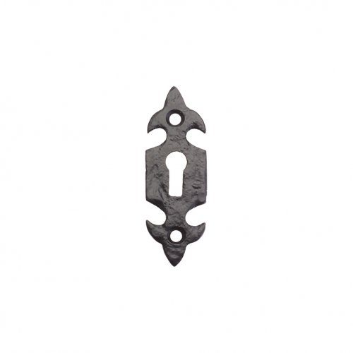 "Foxcote Foundries FF03 Fleur De Lys Escutcheon - Standard - 3"" Polished Brass"