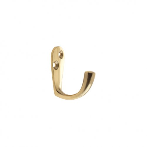 Zoo Hardware ZAB81 Single Robe Hook Polished Brass