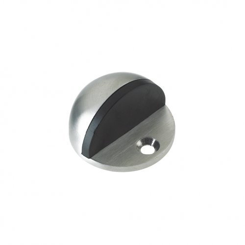 Zoo Hardware ZAS06CSS Door Stop - Floor Mounted Oval - 40mm Stainless Steel