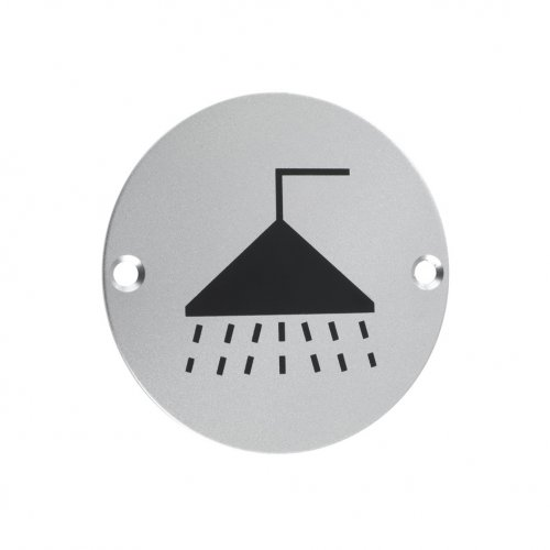 Zoo Hardware ZSA04SA Signage - Shower Satin Aluminium