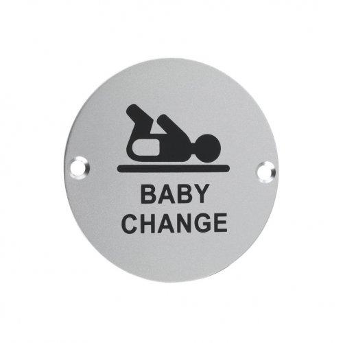 Zoo Hardware ZSA08SA Signage - Baby Change Satin Aluminium