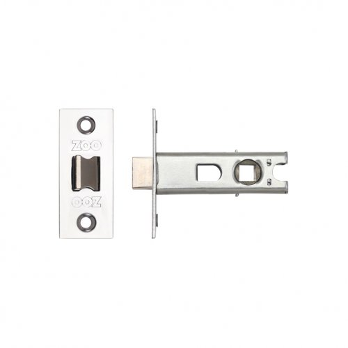 "Zoo Hardware ZTB64PS Tubular Latch 2.5"" 64mm - Bolt Through Polished Stainless Steel"