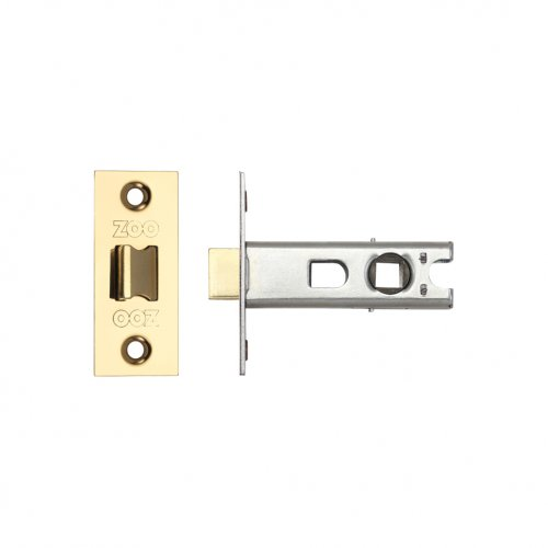 "Zoo Hardware ZTB64PVD Tubular Latch 2.5"" 64mm - Bolt Through PVD Stainless Brass"