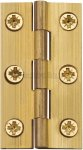 "Heritage Brass HG99-120-NB Hinge Brass 2 1/2"" x 1 3/8"" Natural Brass finish"