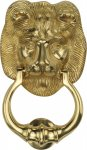 Heritage Brass K1210-PB Lion Knocker Polished Brass finish