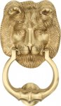 Heritage Brass K1210-SB Lion Knocker Satin Brass finish