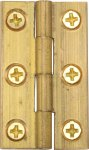 "Heritage Brass HG99-110-NB Cabinet Hinge Brass 1 1/2"" Natural Brass finish"