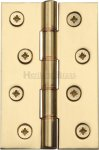 "Heritage Brass PR88-405-PB Hinge Brass with Phosphor Washers 4"" x 2 5/8"" Polished Brass finish"